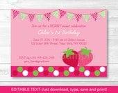 Cute Strawberry Birthday ...