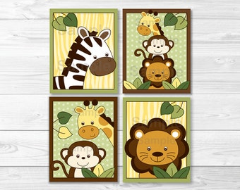 Safari Jungle Animal Nursery Wall Art PRINTABLE Instant Download