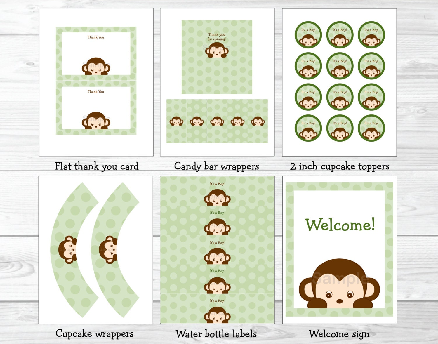monkey baby shower party package monkey baby shower