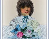 Lilly Handmade Mixed Media Victorian Collage Shelf Sitter Art Doll Decoration