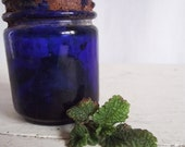 Vintage Cobalt Blue Glass Jar - Vicks Vap O Rub - OLD