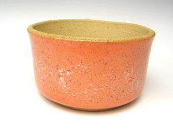 Contemporary Succulent Planter pot Orange white matt Cactus planter bonsai planter Ceramic pottery Herb plant  5 1/4  x 3  Free shipping 0-2