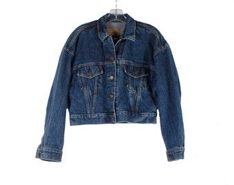 Vintage 80s Jeans Jacket - LEVIS Jeans Jacket -  Stonewashed Acid Washed Jeans Jacket - Cropped Jacket - Levis Orange Label - Made in USA