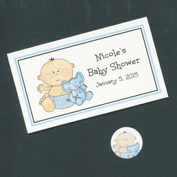personalized baby shower favor topper labels candy stickers and bags