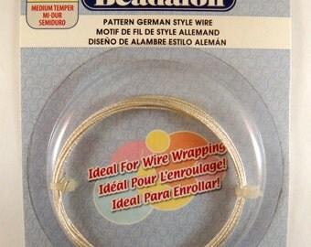 Silver Plated Wire German Style Fleck Pattern 20 Gauge - 6.5 ft - 6330
