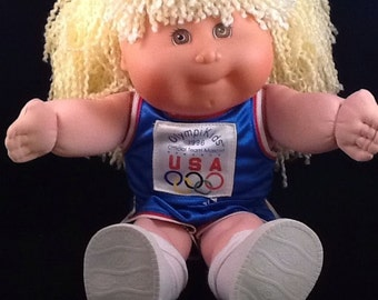 Cabbage Patch Kids Doll Olympic Kids Blonde Hair Brown Eyes