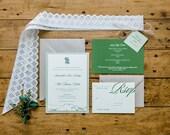 Layered Rustic Mountain Wedding Invitation Deposit