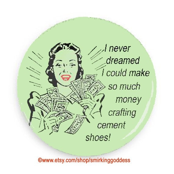 Funny Gift for Crafter, Funny Retro Magnet for Crafters, Gift for Crafting Co-worker
