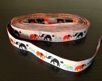 16mm x 1yard (elephant) woven ribbon (S714)