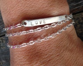 Fork Tine LOVE Bracelet - double wrap