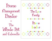 Home Management Printable Binder - The Whole Kit and Caboodle