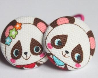 Kawaii Pandas-------2 Ponytail Holders