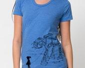 My Star Wars AT-AT Pet - American Apparel Womens T Shirt ( Star Wars t shirt )