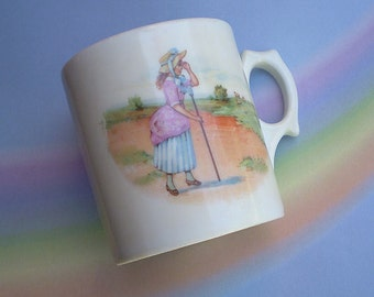Vintage 30s Little Bo Peep Child's Cup