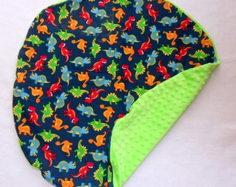 Dinosaurs and  Minky Dot Pillow Cover Fits Boppy Newborn Lounger CHOICE OF MINKY