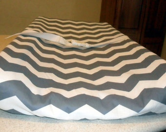 Gray and White Chevron Changing Pad Cover CHOICE OF COLOR
