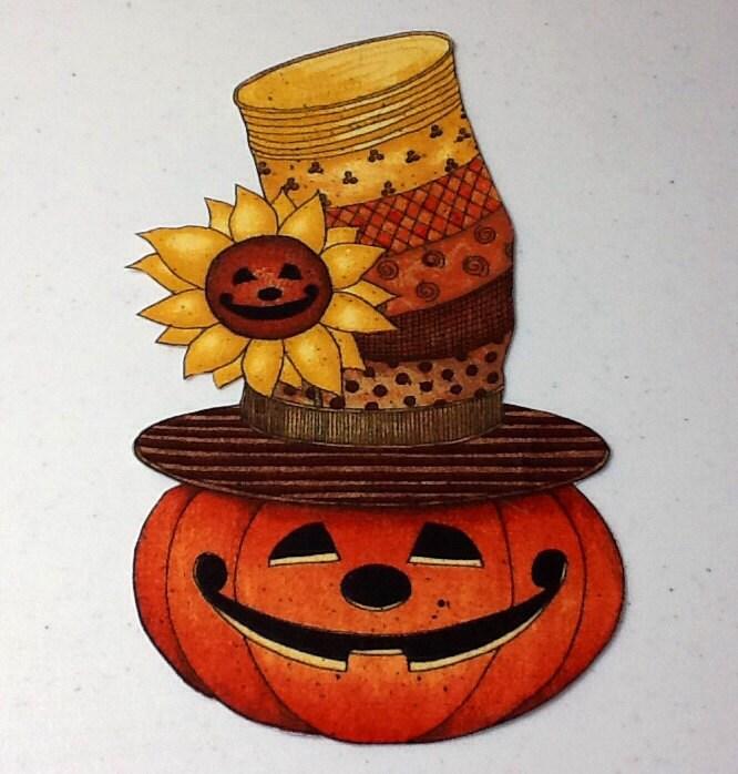 Pumpkin Halloween Sunflower Holiday Appliqué Iron On from VIP Fabric.