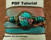 Bracelet Tutorial, Silk Wrap Lampwork Bracelet Tutorial, Magnetic Clasp SRA 177 by CC Design