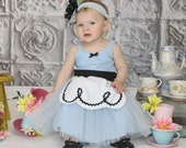 ALICE IN WONDERLAND dress baby 1st  birthday costume dress tutu dress for infant special occasion or portrait