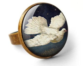 Vintage Dove Ring (ER09)