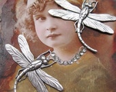 Sterling Silver Ox Plated Dragonfly Stampings 325SOX x2