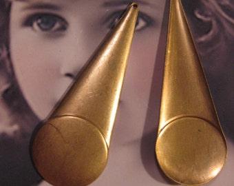 Raw Brass Art Deco Stampings 2209RAW x2