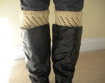 PDF Pattern for Ladies Boot Cuffs, Boot Warmers, Twisted knit pattern