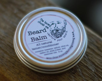All Natural Beard Balm, tame and condition those wily whiskers-- and smell good!