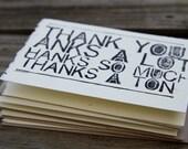 Woodblock Print Thank You Card