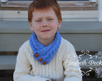 Child or Adult Cabled Neck Warmer Knitting Pattern PDF -- Permission granted to sell the ones you make -- INSTANT DOWNLOAD