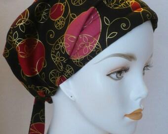 Golden Classic Elegance Cancer Hat Chemo Scarf Head Wrap Hair Loss Turban Bad Hair Day Hat