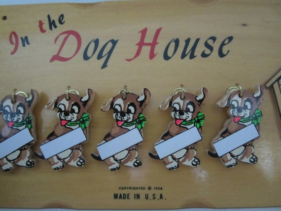 Vintage In The Dog House Wood Plaque