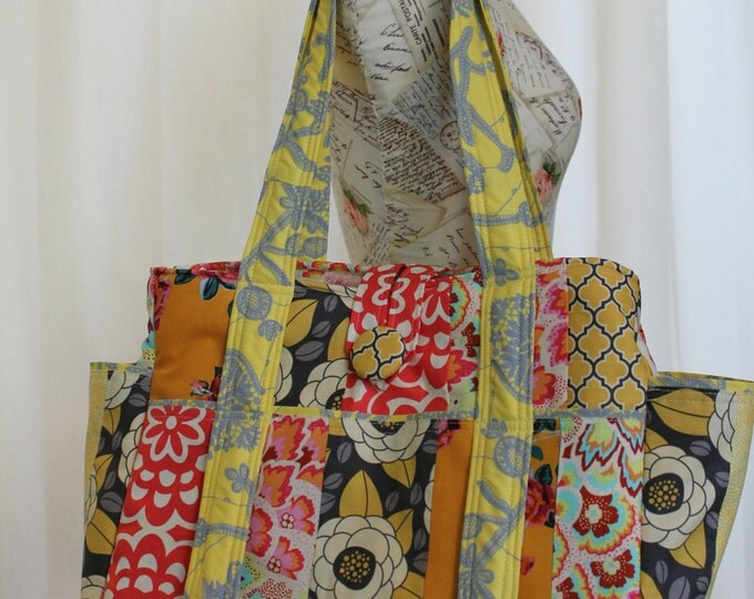 Watermelon Wishes Large Patchwork Bag Tote