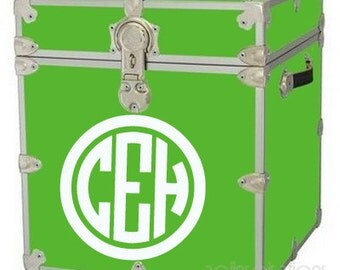 Personalized Camp Trunk Circle Monogram Decal