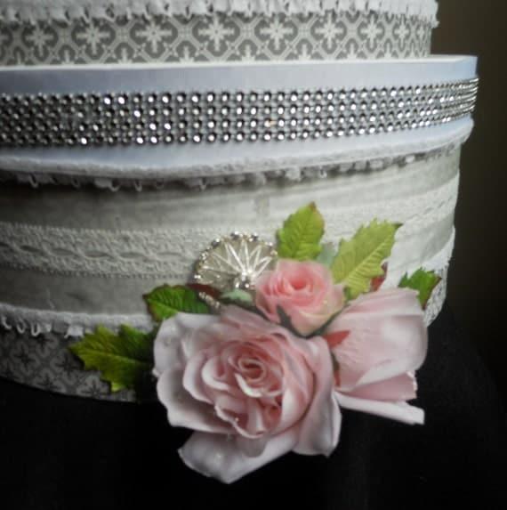 Items similar to Wedding Cake Box Card Holder on Etsy
