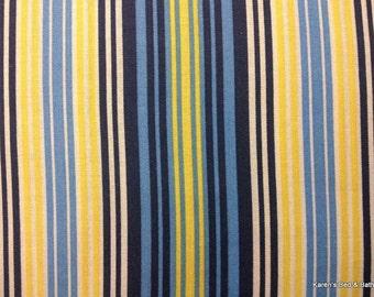 Navy Blue Yellow Natural Stripes Striped Beach Stripe