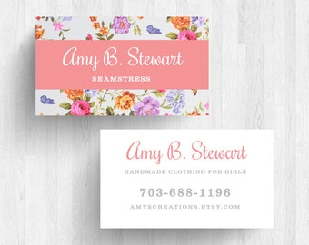 250 or 500 Custom Floral Business Cards or Calling Cards