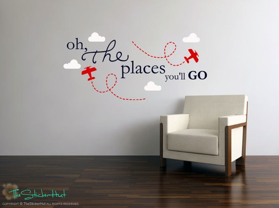 Oh The Places You Ll Go Planes Clouds Nursery Or Bedroom