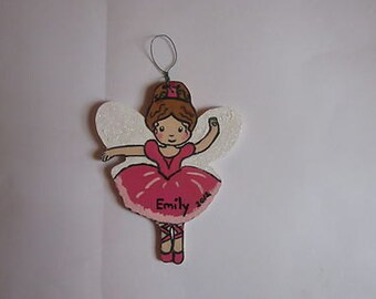 Fairy Ballerina Christmas Ornament - Personalized