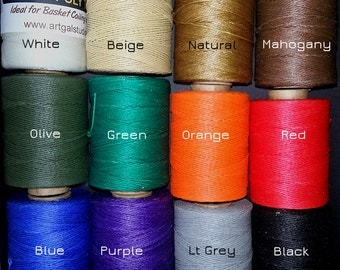 Waxed Poly Thread - Choose Color, 2 oz Spool, Ideal for Pine Needle Baskets, Gourd Art, Leather work, Jewelry  Beading & Sewing Crafts