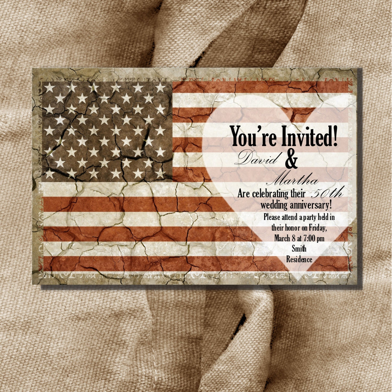 zoom - Patriotic Wedding Invitations