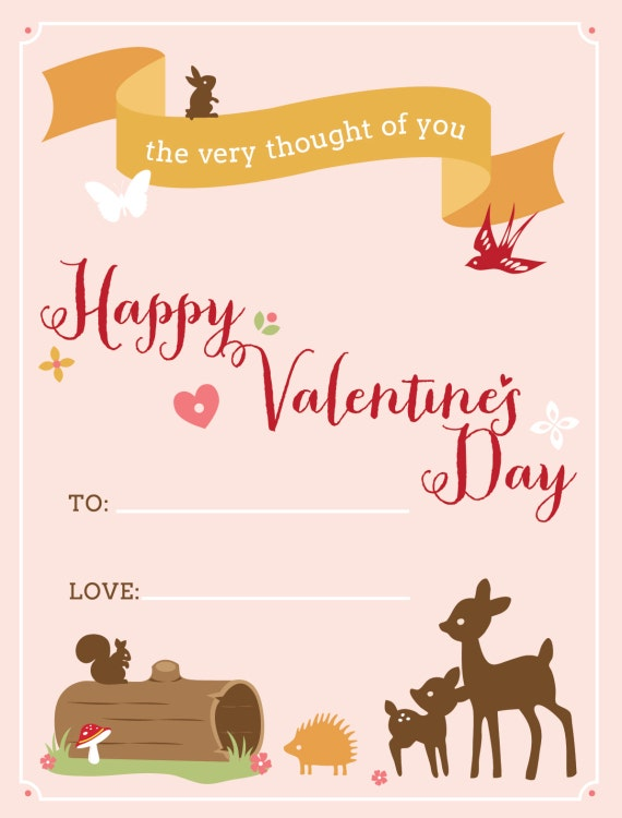 Forest Friends Valentines — DIGITAL DOWNLOAD