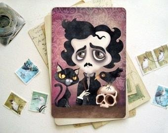 Edgar Poet - Gothic 4 x 6 Postcard Postcrossing