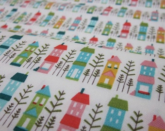 Riley Blake So Happy White Houses Cotton Fat Quarter