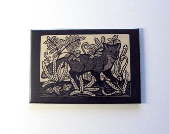 Fox art magnet 2 x 3 inches