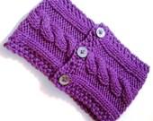 Knit Cowl - Bright Purple
