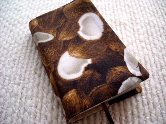Book Cover Black Market ~ Coconut book cover cuckoo for coconuts fabric