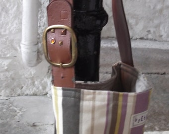 OOAK Recycled and Vintage Deep Shoulder Bag No. 1