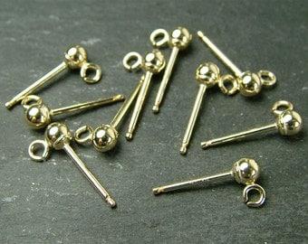 Gold Filled Ear Post w/Ball 3mm (ET1271)