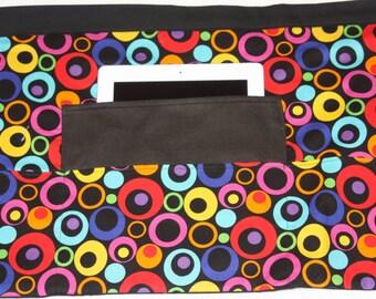 Vendor Half Waist Apron Craft Art Teacher iPad Colorful Dot Circle Fabric (4 Pockets)